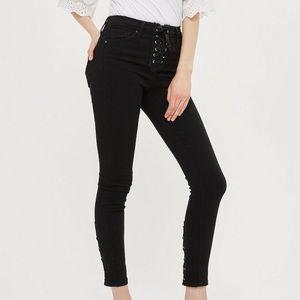 Topshop Jamie Lace up Jeans